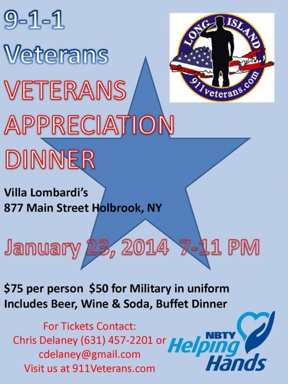 9-1-1 Veterans Appreciation Dinner