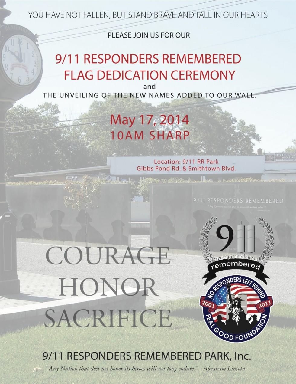 9/11 Responders Remembered Flag Dedication Ceremony