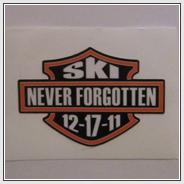 Ski Never Forgotten Sticker