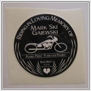 Ski Memorial Sticker